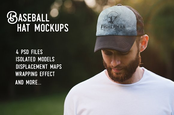 Free Baseball hat mock up