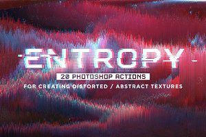 Entropy: 20 Photoshop glitch actions
