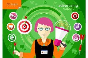 Advertising expert of marketing