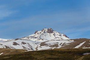 Erjiyes peak covered by snow