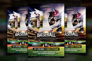 Baseball flyer Photos, Graphics, Fonts, Themes, Templates ~ Creative ...