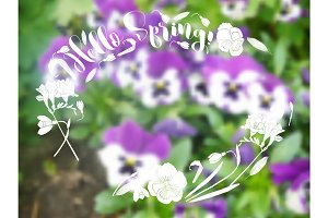 Background  with spring garden flowers