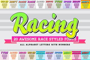 Awesome 20 Racing Fonts with Numbers
