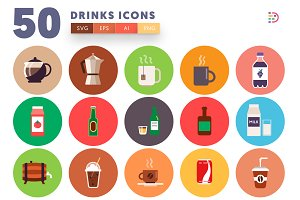 50 Drinks Icons