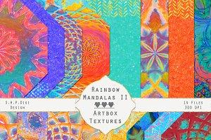Rainbow Art Mandalas Set II-Bright!