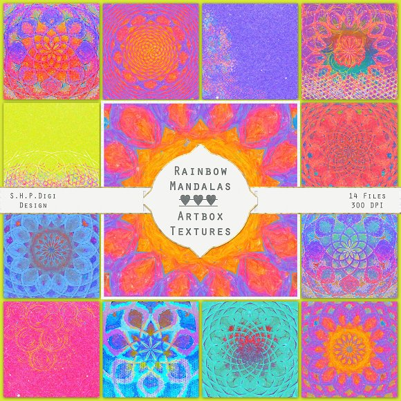 Rainbow Mandalas Super Bright Art