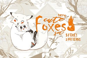 Cute Foxes and Forest Patterns