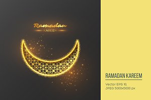 Ramadan Kareem glitter background.