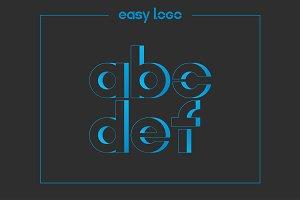 letter A B C D E F logo alphabet