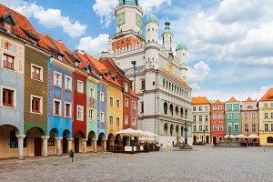 Old market square in Poznan, Poland