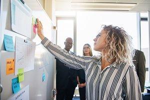 Diverse business team brainstorming