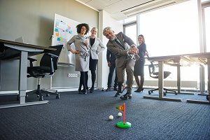 Business people teambuilding in office space