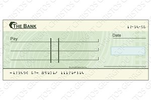 Blank cheque illustration