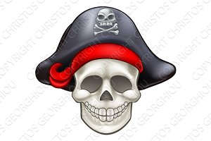 Skull Pirate Cartoon
