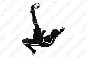 Soccer football player illustration