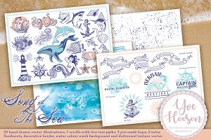 Song of the Sea nautical vector pack