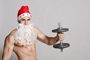 Santa and dumbbells