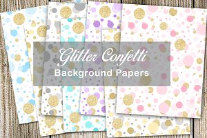 Glitter Confetti Background Papers