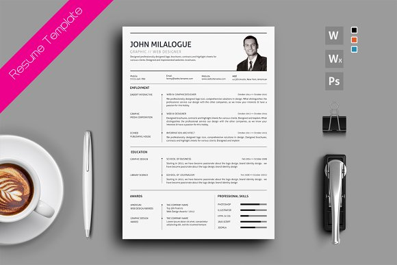 resume cv cover letter resumes - Cover Letter And Resume Template