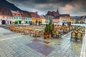 Wonderful old city center in Brasov