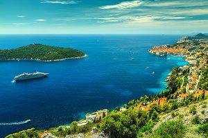 Dubrovnik city panorama in Croatia