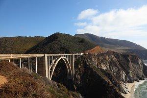 road on Pacific coast USA