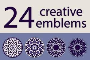 24 creative emblems