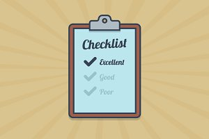 Checklist illustration in flat style