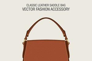 Classic Leather Saddle Bag