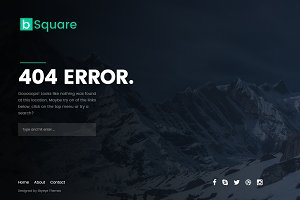 bSquare - Responsive 404 Page