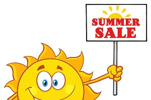 Summer Sun With Text Summer Sale