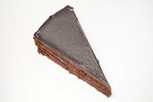 Piece of truffle cake