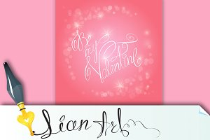 Valentine's day background with hear