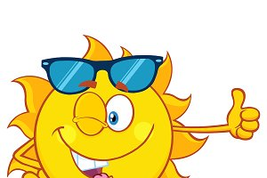Winking Sun With Sunglasses