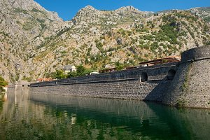 Fortress wall of old town Kotor