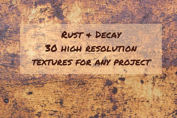 Rust Decay Photo Texture Bundle