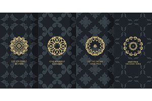 Vector seamless patterns set №2