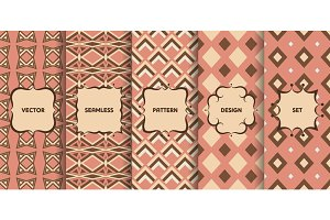 Vector seamless patterns set №5