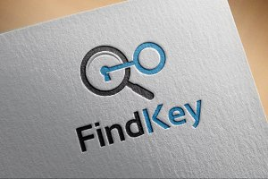 Simple Find Key Logo template