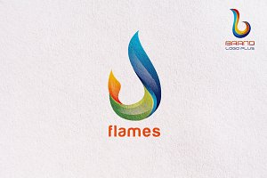 3D Flame Logo Design Templates