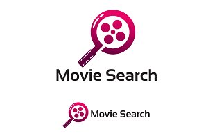 Modern Movie Search Logo template