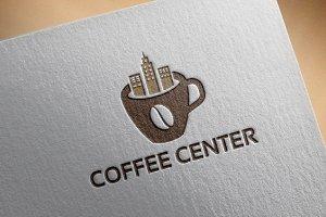 Coffee Center Shop Logo template