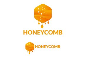 Modern Honeycomb Logo Template