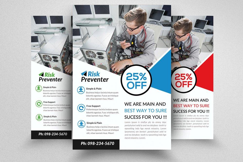 Computer Repair Flyer Flyer Templates Creative Market