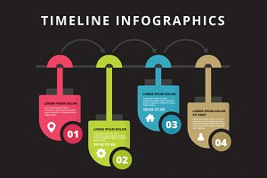 Timeline infographics template.