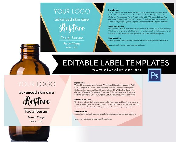 Product Label TemplateID18 Stationery Templates Creative Market – Product Label Template