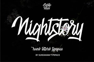 Nightstory Typeface 40% 0ff