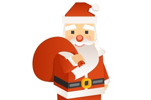 Santa Claus, 3d Vector
