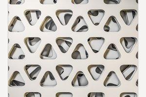 White triangular abstract