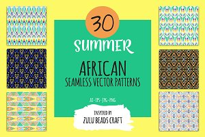 Summer African pattern set